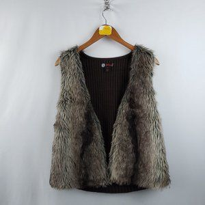 J.J, Basics Vintage Faux Fur Jacket Sz Med Gray